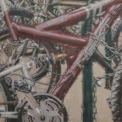"""""""Bicycles III"""", Oil Painting"""