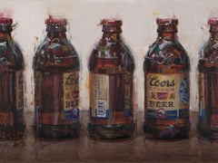 """Coors Banquet Bottles"", Oil Painting"