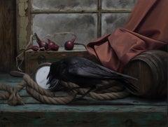 """Barn Interior"" Oil painting"