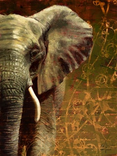 Being an Elephant Isn't Easy, Oil painting