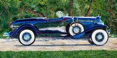 """1932 Auburn Speedster,"" Acrylic painting"