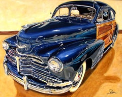 """1948 Chevrolet Fleetmaster Fleetline Sportsman Sedan,"" Acrylic painting"