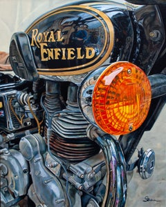 """""""Sully's Royal Enfield, Acrylic painting,"""" Acrylic painting"""