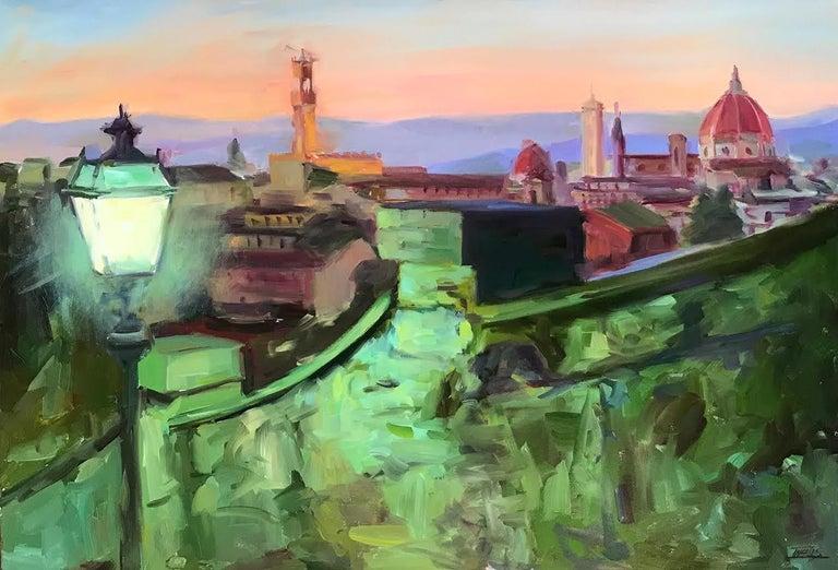 Pam Ingalls Landscape Painting - Dusking
