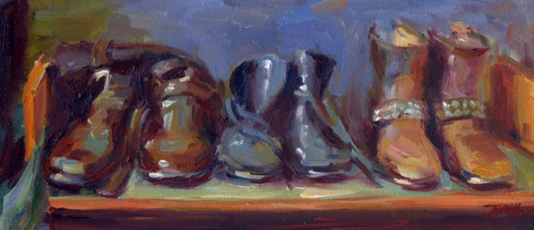 Pam Ingalls Figurative Painting - Boot Camp