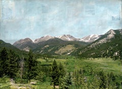 """RMNP Mummy Range,"" Mixed Media Painting"