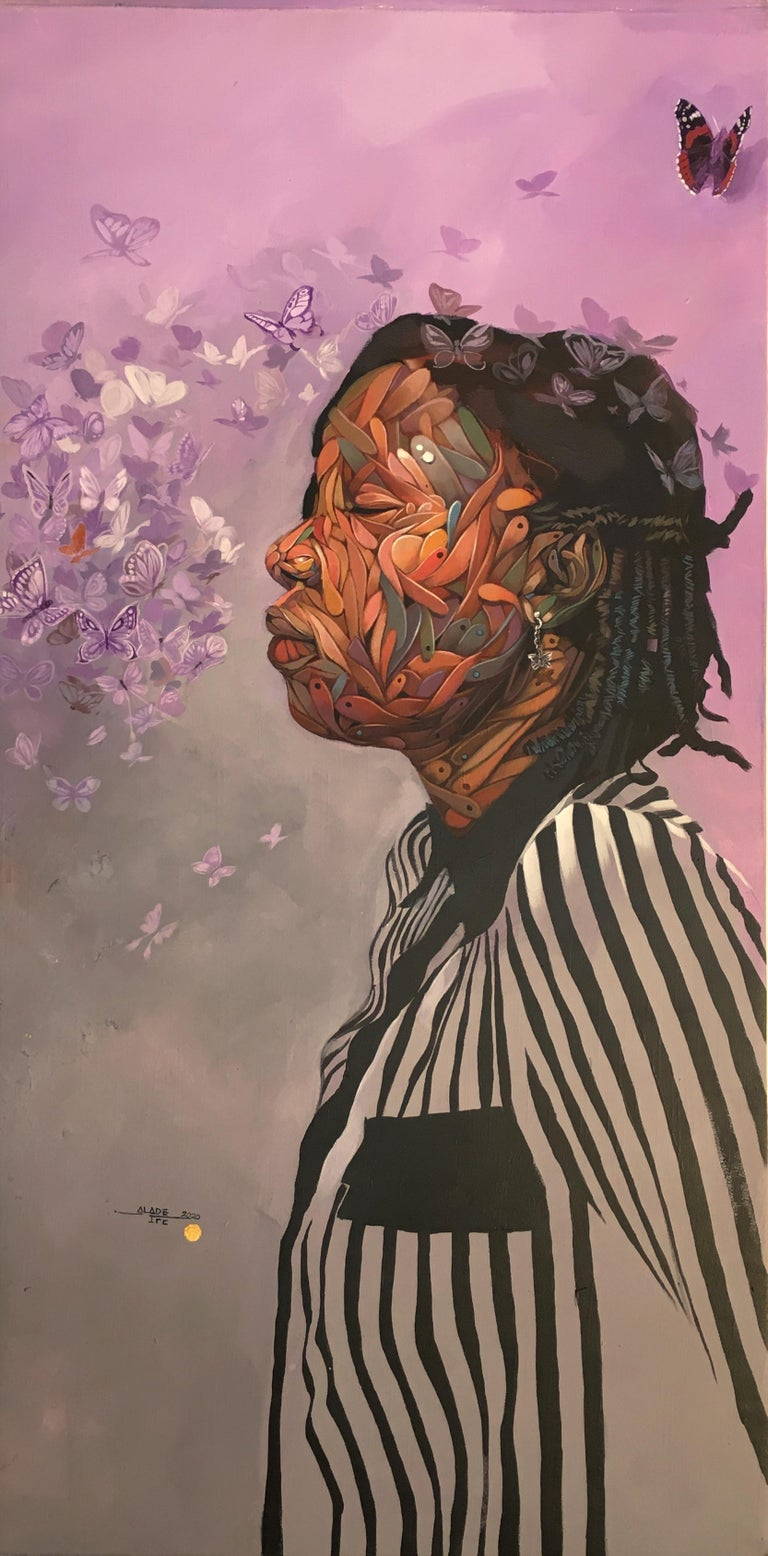 "Ifeoluwa Alade Figurative Painting - ""Sweet Sensation"" Acrylic Painting"