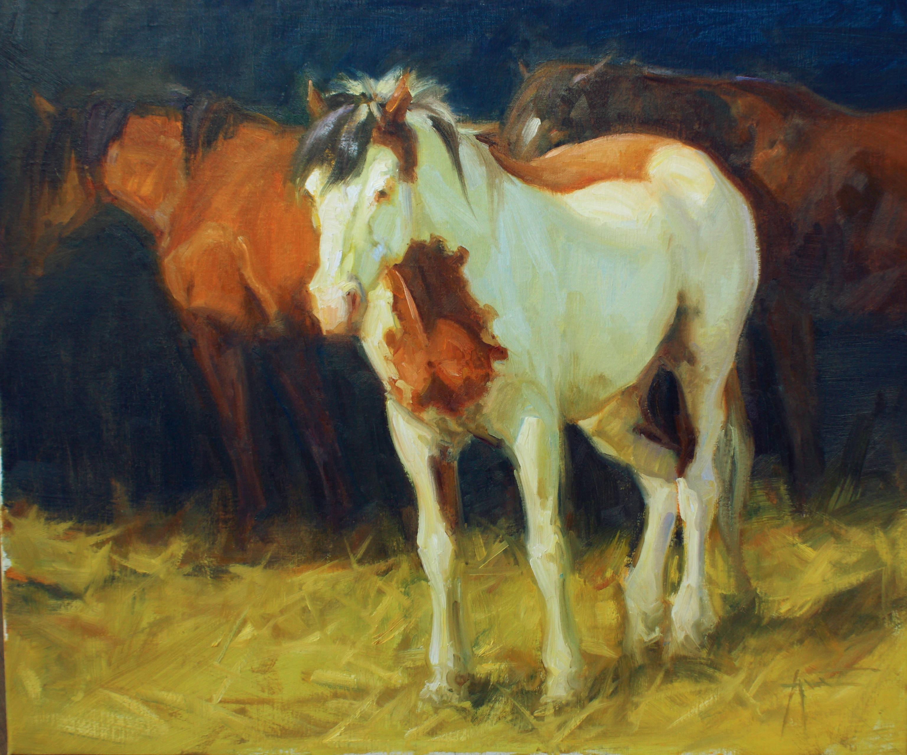 """""""Sundown Pasture"""" Oil painting"""
