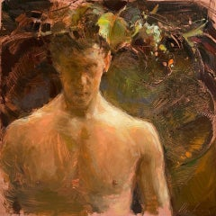 """""""Bacchus"""" Oil painting"""