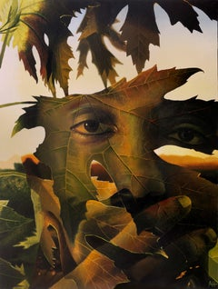 """""""Through the Leaves"""" Oil painting"""