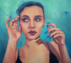 """""""In One Ear, Out the Other,"""" Oil Painting"""