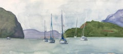 """Hudson River,"" Watercolor Painting"