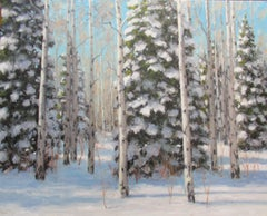 """Winter Afternoon,"" Oil Painting"