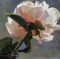 """Peony,"" Oil Painting"