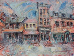 """""""State Street,"""" Mixed Media Painting"""