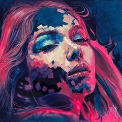 """Neon Dreams"", Oil Painting"