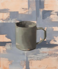 Dark Cup on Grey, Oil painting