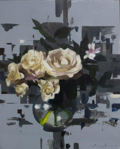 Fragmented Roses, Oil painting
