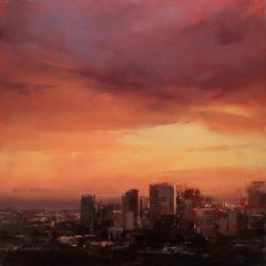 Beneath the Setting Sun, Oil painting