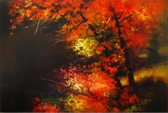 Autumn Flare, Oil painting