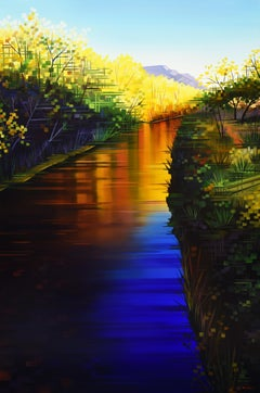 """""""Reflections of the Season,"""" Oil painting"""
