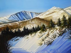 """Sunny Side Slopes,"" Oil painting"