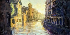 Annecy, France, Oil painting