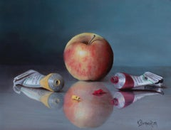 """An Apple is Born,"" Oil painting"