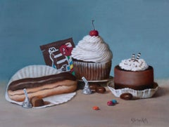 """Chocolate Choices,"" Oil painting"