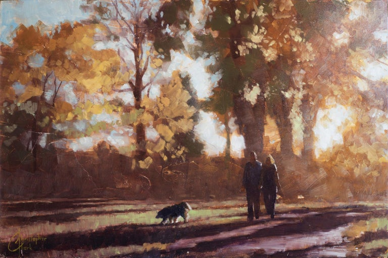Christopher Clark Landscape Painting - Autumn Stroll