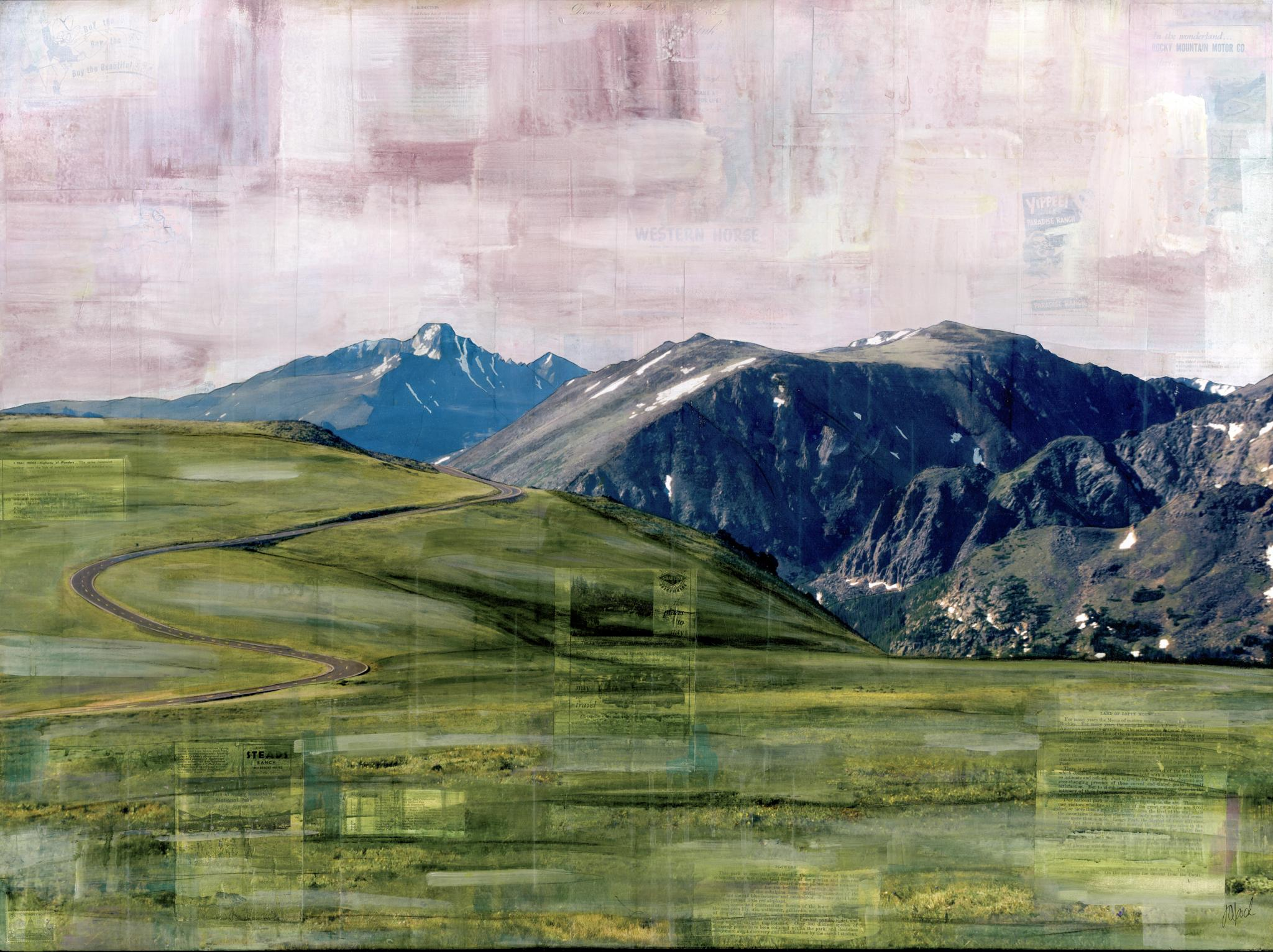 """RMNP Trail Ridge Road,"" Mixed Media Painting"