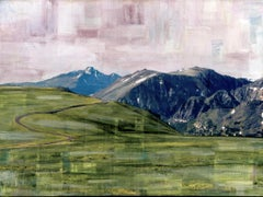 """RMNP Trail Ridge Road,"" Mixed Media Painting"