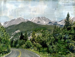 """RMNP Down to Fall River,"" Mixed Media Painting"