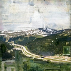 """RMNP Loveland Pass I,"" Mixed Media Painting"