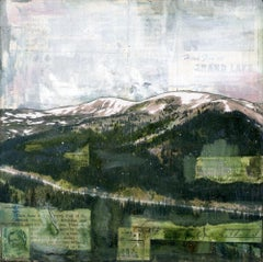"""RMNP Loveland Pass IV,"" Mixed Media Painting"