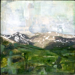 """RMNP Loveland Pass V,"" Mixed Media Painting"