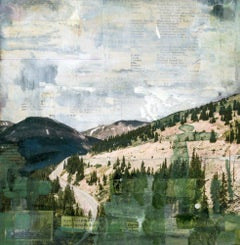 """RMNP Loveland Pass VI,"" Mixed Media Painting"