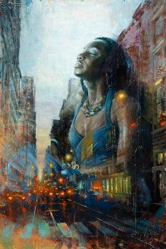 """Regal Blue"" Oil Painting"