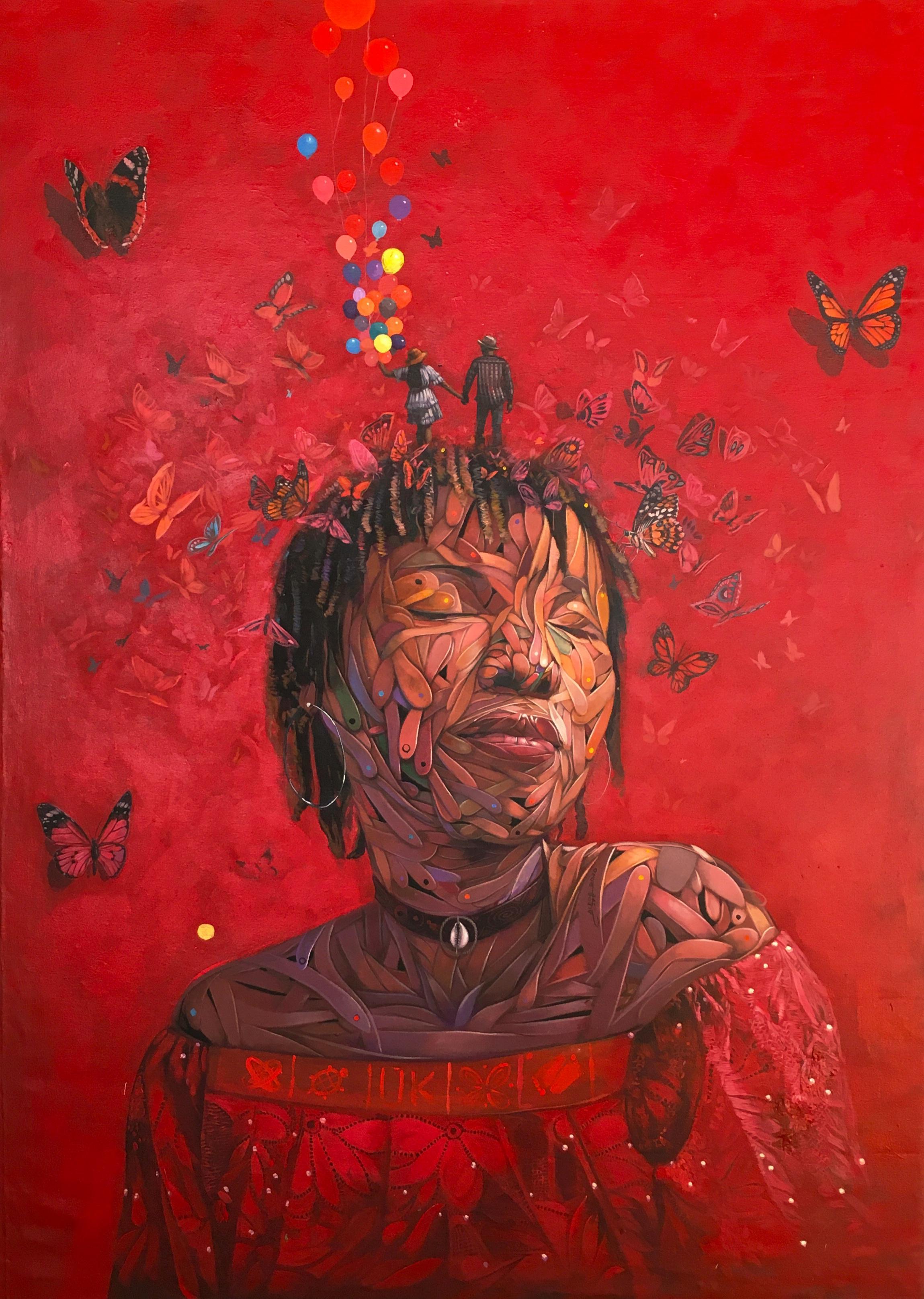 """""""Àbáké"""" Acrylic Painting"""