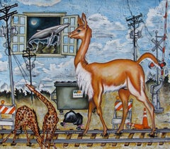"""Urban Zoo"" Oil painting"