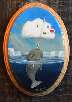 """Makeshift Unicorn"" Mixed Media painting"