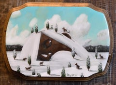 """""""Slumbering by the Wildlife"""" Mixed Media painting"""