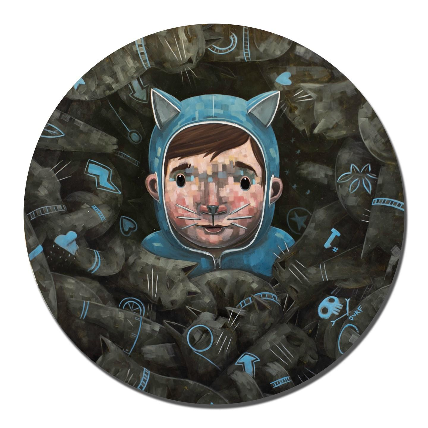 """""""Ethan in the Purr"""" Oil painting"""