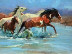 """""""Sand Wash Crossing"""" Oil painting"""