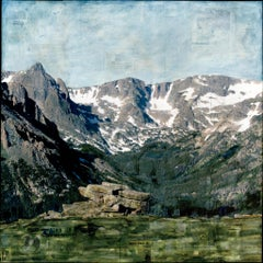 """""""RMNP Mountains and Marmot"""" Mixed Media Painting"""