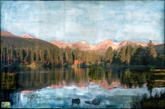 """RMNP Sprague Lake"" Mixed Media Painting"