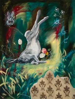 """""""Upside Down in Wonderland"""" Oil Painting"""