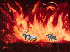"""""""Out of the Flames"""" Oil Painting"""