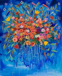 """""""Mega City Redux"""" Oil Painting"""