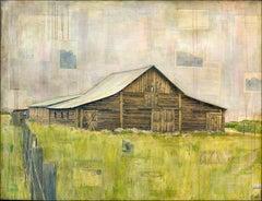 """Western Barn"" Mixed Media Painting"